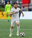 Carles Gil (22) during New England Revolution and Houston Dynamo MLS match at Gillette Stadium in Foxboro, MA on Saturday, June 29, 2019.  Revs won 2-1. CREDIT/CHRIS ADUAMA