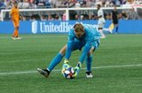 Joe Willis (23)-GK during New England Revolution and Houston Dynamo MLS match at Gillette Stadium in Foxboro, MA on Saturday, June 29, 2019.  Revs won 2-1. CREDIT/CHRIS ADUAMA