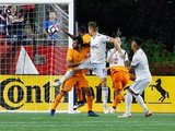 Antonio Delamea (19) during New England Revolution and Houston Dynamo MLS match at Gillette Stadium in Foxboro, MA on Saturday, June 29, 2019.  Revs won 2-1. CREDIT/CHRIS ADUAMA