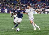 during New England Revolution and Orlando City SC MLS match at Gillette Stadium in Foxboro, MA on Saturday, October 13, 2018. Revs won 2-0. CREDIT/ CHRIS ADUAMA