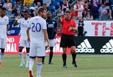 Referee Alan Kelly during New England Revolution and Orlando City SC MLS match at Gillette Stadium in Foxboro, MA on Saturday, July 27, 2019.  Revs won 4-1. CREDIT/CHRIS ADUAMA