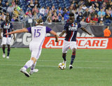 New England Revolution and Orlando City SC MLS match during which Kei Kamara scored his 100th goal and hat trick at Gillette Stadium in Foxboro, MA on Saturday, September 2, 2017. Revs won 4-0. CREDIT/ CHRIS ADUAMA
