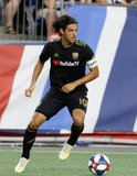Carlos Vela (10) during New England Revolution and Los Angeles Football Club MLS match at Gillette Stadium in Foxboro, MA on Saturday, August 3, 2019. LAFC won 2-0. CREDIT/CHRIS ADUAMA