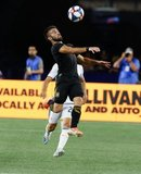 Diego Rossi (9) during New England Revolution and Los Angeles Football Club MLS match at Gillette Stadium in Foxboro, MA on Saturday, August 3, 2019. LAFC won 2-0. CREDIT/CHRIS ADUAMA