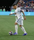 Gustavo Bou (7) during New England Revolution and Los Angeles Football Club MLS match at Gillette Stadium in Foxboro, MA on Saturday, August 3, 2019. LAFC won 2-0. CREDIT/CHRIS ADUAMA