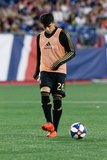 during New England Revolution and Los Angeles Football Club MLS match at Gillette Stadium in Foxboro, MA on Saturday, August 3, 2019. LAFC won 2-0. CREDIT/CHRIS ADUAMA