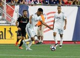 Juan Agudelo (17) during New England Revolution and Los Angeles Football Club MLS match at Gillette Stadium in Foxboro, MA on Saturday, August 3, 2019. LAFC won 2-0. CREDIT/CHRIS ADUAMA
