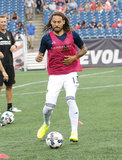 during New England Revolution and LA Galaxy MLS match at Gillette Stadium in Foxboro, MA on Saturday, July 22, 2017. Revs won 4-3. CREDIT/ CHRIS ADUAMA