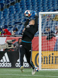 Cody Cropper (1) during New England Revolution and Montreal Impact MLS match at Gillete Stadium in Foxboro, MA on Wednesday, April 24, 2019. Montreal beat Revs 3-0. CREDIT/ CHRIS ADUAMA