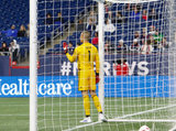 Evan Bush (1) during New England Revolution and Montreal Impact MLS match at Gillette Stadium in Foxboro, MA on Wednesday, April 24, 2019. Montreal beat Revs 3-0. CREDIT/ CHRIS ADUAMA