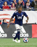 Luis Caicedo (27) during New England Revolution and Montreal Impact MLS match at Gillette Stadium in Foxboro, MA on Wednesday, April 24, 2019. Montreal beat Revs 3-0. CREDIT/ CHRIS ADUAMA