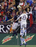 during New England Revolution and Montreal Impact MLS match at Gillette Stadium in Foxboro, MA on Saturday, September  9, 2017. Revs won 1-0. CREDIT/ CHRIS ADUAMA