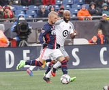 Diego Fagundez (14) during New England Revolution and Minnesota FC MLS match at Gillette Stadium in Foxboro, MA on Saturday, March 25, 2017. Revs won 5-2. CREDIT/ CHRIS ADUAMA