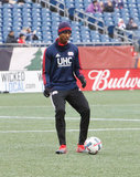 London Woodberry (28) during New England Revolution and Minnesota United FC MLS match at Gillette Stadium in Foxboro, MA on Saturday, March 25, 2017. Revs won 5-2. CREDIT/ CHRIS ADUAMA