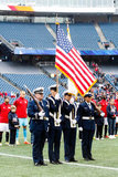 Honor Guards before New England Revolution and Minnesota United FC MLS match at Gillette Stadium in Foxboro, MA on Saturday, March 25, 2017. Revs won 5-2. CREDIT/ CHRIS ADUAMA