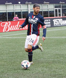 Lee Nguyen (24) during New England Revolution and Minnesota United FC MLS match at Gillette Stadium in Foxboro, MA on Saturday, March 25, 2017. Revs won 5-2. CREDIT/ CHRIS ADUAMA