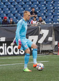 Cody Cropper (1) during New England Revolution and Minnesota FC MLS match at Gillette Stadium in Foxboro, MA on Saturday, March 25, 2017. Revs won 5-2. CREDIT/ CHRIS ADUAMA