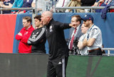 Revs Head Coach Brad Friedel during New England Revolution and Minnesota United FC MLS match at Gillette Stadium in Foxboro, MA on Saturday, March 30, 2019. Revs won 2-1. CREDIT/ CHRIS ADUAMA