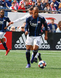 Teal Bunbury (10) during New England Revolution and Minnesota United FC MLS match at Gillette Stadium in Foxboro, MA on Saturday, March 30, 2019. Revs won 2-1. CREDIT/ CHRIS ADUAMA