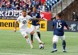 Francisco Calvo (5) during New England Revolution and Minnesota United FC MLS match at Gillette Stadium in Foxboro, MA on Saturday, March 30, 2019. Revs won 2-1. CREDIT/ CHRIS ADUAMA