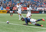 Jalil Anibaba (3) during New England Revolution and Minnesota United FC MLS match at Gillette Stadium in Foxboro, MA on Saturday, March 30, 2019. Revs won 2-1. CREDIT/ CHRIS ADUAMA