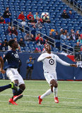 Abu Danladi (99) during New England Revolution and Minnesota United FC MLS match at Gillette Stadium in Foxboro, MA on Saturday, March 30, 2019. Revs won 2-1. CREDIT/ CHRIS ADUAMA
