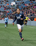 Kelyn Rowe (11) during Revolution and NYCFC MLS match at Gillette Stadium in Foxboro, MA on Saturday, March 24, 2018. The match ended 2-2. CREDIT/ CHRIS ADUAMA