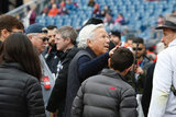 Robert Kraft before Revolution and NYCFC MLS match at Gillette Stadium in Foxboro, MA on Saturday, March 24, 2018. The match ended 2-2. CREDIT/ CHRIS ADUAMA