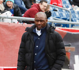 Coach Patrick Vieira during Revolution and NYCFC MLS match at Gillette Stadium in Foxboro, MA on Saturday, March 24, 2018. The match ended 2-2. CREDIT/ CHRIS ADUAMA
