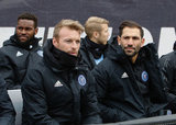 NYCFC Bench during Revolution and NYCFC MLS match at Gillette Stadium in Foxboro, MA on Saturday, March 24, 2018. The match ended 2-2. CREDIT/ CHRIS ADUAMA