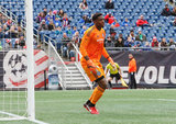 Sean Johnson (1) during Revolution and NYCFC MLS match at Gillette Stadium in Foxboro, MA on Saturday, March 24, 2018. The match ended 2-2. CREDIT/ CHRIS ADUAMA