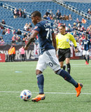 Cristian Penilla (70) during Revolution and NYCFC MLS match at Gillette Stadium in Foxboro, MA on Saturday, March 24, 2018. The match ended 2-2. CREDIT/ CHRIS ADUAMA