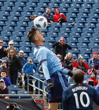 Ben Sweat (2) during Revolution and NYCFC MLS match at Gillette Stadium in Foxboro, MA on Saturday, March 24, 2018. The match ended 2-2. CREDIT/ CHRIS ADUAMA