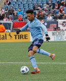 Alexander Callens (6) during Revolution and NYCFC MLS match at Gillette Stadium in Foxboro, MA on Saturday, March 24, 2018. The match ended 2-2. CREDIT/ CHRIS ADUAMA