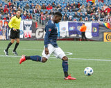Jalil Anibaba (3) during Revolution and NYCFC MLS match at Gillette Stadium in Foxboro, MA on Saturday, March 24, 2018. The match ended 2-2. CREDIT/ CHRIS ADUAMA