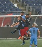 during New England Revolution and New York City FC MLS match on Wednesday, September 2, 2020 at Gillette Stadium in Foxboro, MA. NYCFC won 2-0. CREDIT/ CHRIS ADUAMA.