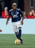 Luis Caicedo (27) during New England Revolution and New York City Football Club MLS match at Gillette Stadium in Foxboro, MA on Sunday, September 29, 2019. Revs won 2-0. CREDIT/CHRIS ADUAMA.