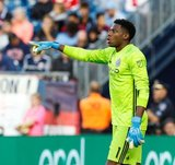 Sean Johnson (1) - GK during New England Revolution and New York City Football Club MLS match at Gillette Stadium in Foxboro, MA on Sunday, September 29, 2019. Revs won 2-0. CREDIT/CHRIS ADUAMA.