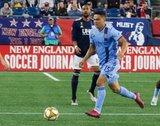 Tony Rocha (15) during New England Revolution and New York City Football Club MLS match at Gillette Stadium in Foxboro, MA on Sunday, September 29, 2019. Revs won 2-0. CREDIT/CHRIS ADUAMA.
