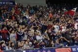 The Fort during New England Revolution and New York City Football Club MLS match at Gillette Stadium in Foxboro, MA on Sunday, September 29, 2019. Revs won 2-0. CREDIT/CHRIS ADUAMA.