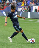 Omir Fernandez (21) during N.E. Revolution and New York Red Bulls MLS match at Gillette Stadium in Foxboro, MA on Saturday, April 20, 2019. Revs won 1-0. CREDIT/ CHRIS ADUAMA