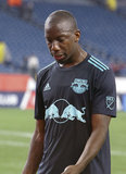 Bradley Wright-Phillips (99) during N.E. Revolution and New York Red Bulls MLS match at Gillette Stadium in Foxboro, MA on Saturday, April 20, 2019. Revs won 1-0. CREDIT/ CHRIS ADUAMA