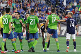 during New England Revolution and Seattle Sounders FC MLS match at Gillette Stadium in Foxboro, MA on Saturday, July 7,  2018. The match ended in 0-0 tie. CREDIT/ CHRIS ADUAMA