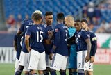 Revs Team during New England Revolution and Philadelphia Union MLS match at Gillette Stadium in Foxboro, MA on Wednesday, June 26, 2019. The match ended in 1-1 tie. CREDIT/CHRIS ADUAMA