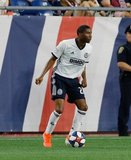 Raymond Gaddis (28) during New England Revolution and Philadelphia Union MLS match at Gillette Stadium in Foxboro, MA on Wednesday, June 26, 2019. The match ended in 1-1 tie. CREDIT/CHRIS ADUAMA