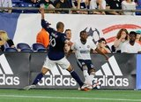 Teal Bunbury (10), Raymond Gaddis (28) during New England Revolution and Philadelphia Union MLS match at Gillette Stadium in Foxboro, MA on Wednesday, June 26, 2019. The match ended in 1-1 tie. CREDIT/CHRIS ADUAMA