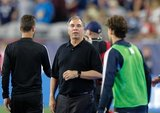 Coach Bruce Arena during New England Revolution and Philadelphia Union MLS match at Gillette Stadium in Foxboro, MA on Wednesday, June 26, 2019. The match ended in 1-1 tie. CREDIT/CHRIS ADUAMA