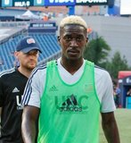 Wilfried Zahibo (23) during New England Revolution and Philadelphia Union MLS match at Gillette Stadium in Foxboro, MA on Wednesday, June 26, 2019. The match ended in 1-1 tie. CREDIT/CHRIS ADUAMA