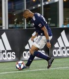 Andrew Farrell (2) during New England Revolution and Philadelphia Union MLS match at Gillette Stadium in Foxboro, MA on Wednesday, June 26, 2019. The match ended in 1-1 tie. CREDIT/CHRIS ADUAMA