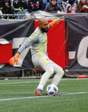Tim Howard (1) during New England Revolution's 2018 MLS Home Opener with Colorado Rapids at Gillette Stadium in Foxboro, MA on Saturday, March 10, 2018.Revs won 2-1.CREDIT/ CHRIS ADUAMA